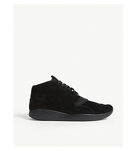 NIKE Eclipse Chukka Lea suede mid-top trainers (Black+mono
