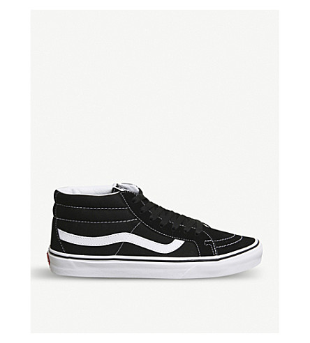 VANS Vans SK8-mid reissue mid-top canvas and suede trainers (Black+true+white