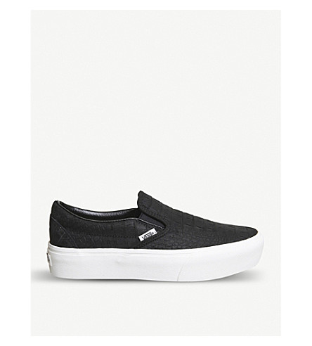VANS Vans slip-on platform canvas trainers (Embossed+black+white