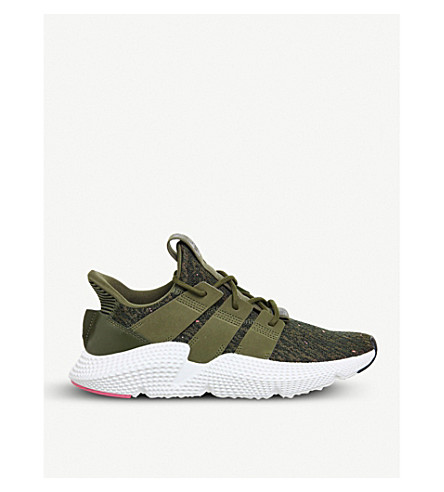 ADIDAS Prophere knitted trainers (Trace+olive