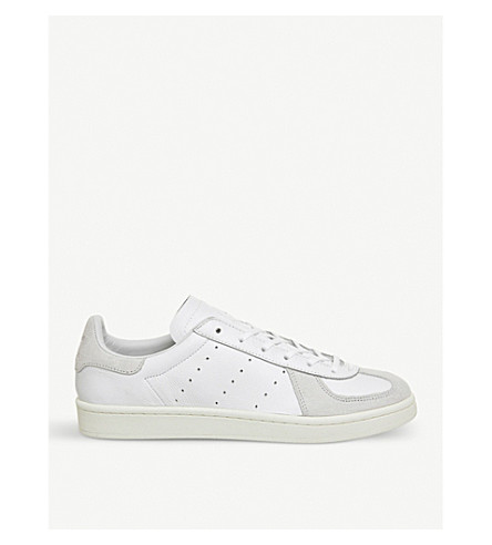 ADIDAS BW Avenue leather and suede trainers (White+white