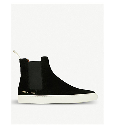 COMMON PROJECTS Chelsea high-top suede trainers (Black