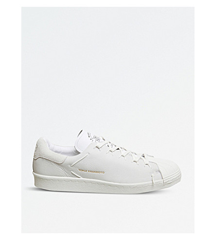 ADIDAS Y3 Y-3 Superstar Knot suede low-top trainers (White+mono