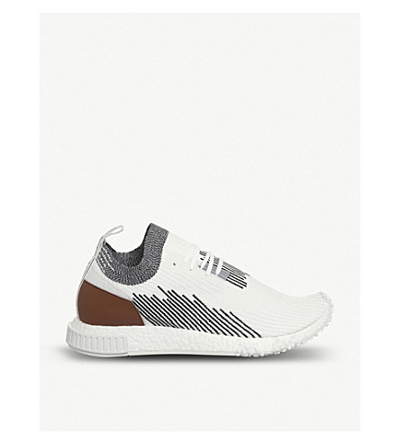 ADIDAS NMD Racer Primeknit and leather trainers (Monaco+red+black