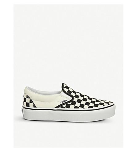VANS Classic canvas platform slip-on trainers (Black+white+checker