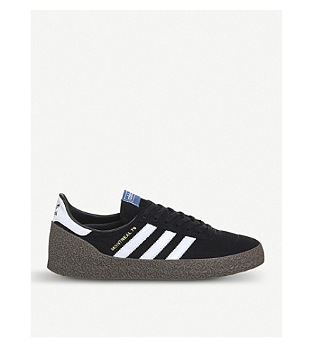 ADIDAS Montreal '76 suede and leather trainers (Core+black