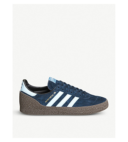 ADIDAS Montreal '76 suede and leather trainers (Collegiate+navy