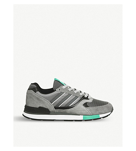 ADIDAS Quesence suede and mesh trainers (Grey+three+grey