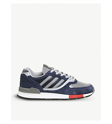 ADIDAS Quesence suede and mesh trainers (Collegiate+navy