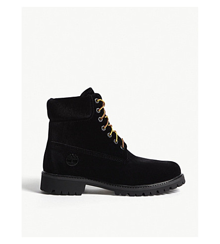 TIMBERLAND Timberland x Off-White lace-up velvet boots (Black
