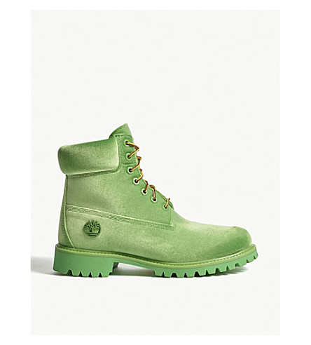 TIMBERLAND Timberland x Off-White velvet ankle boots (Green