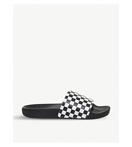 VANS Chequerboard-pattern sliders (Black+white+check