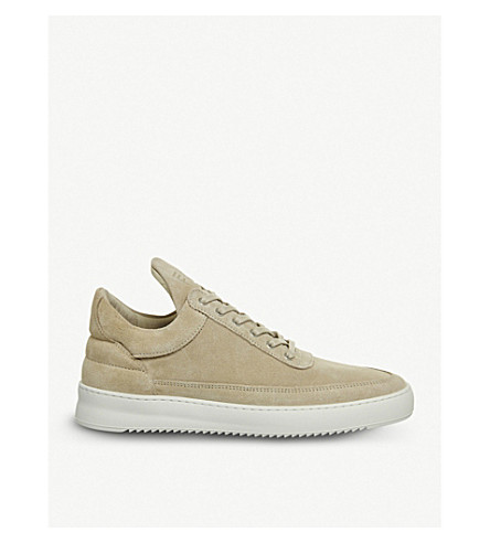 FILLING PIECES Low Top Ripple suede trainers (Beige suede