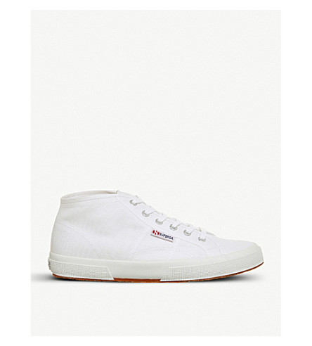 SUPERGA 2754 mid-top canvas trainers (White