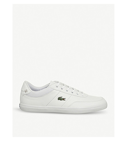 LACOSTE Court Master low-top leather trainers (White+navy