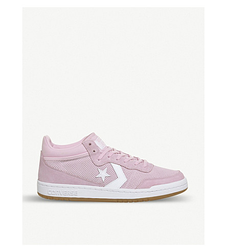 CONVERSE Fastbreak mid-top suede trainers (Cherry+blossom+white