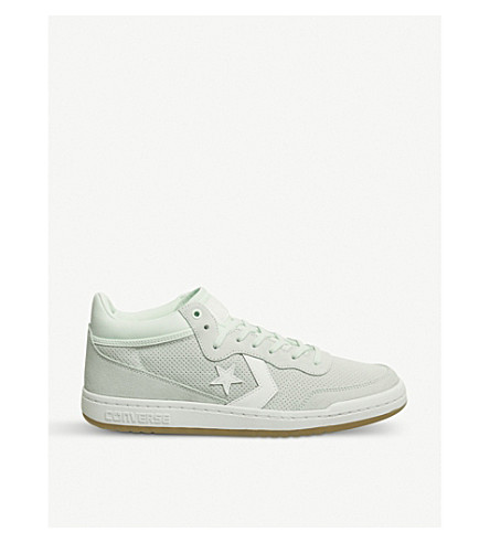 CONVERSE Fastbreak Mid suede and mesh trainers (Barely+green+white