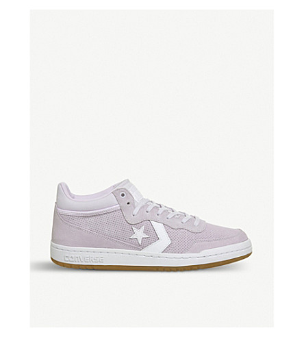 CONVERSE Fastbreak Mid suede and mesh trainers (Barely+grape+white