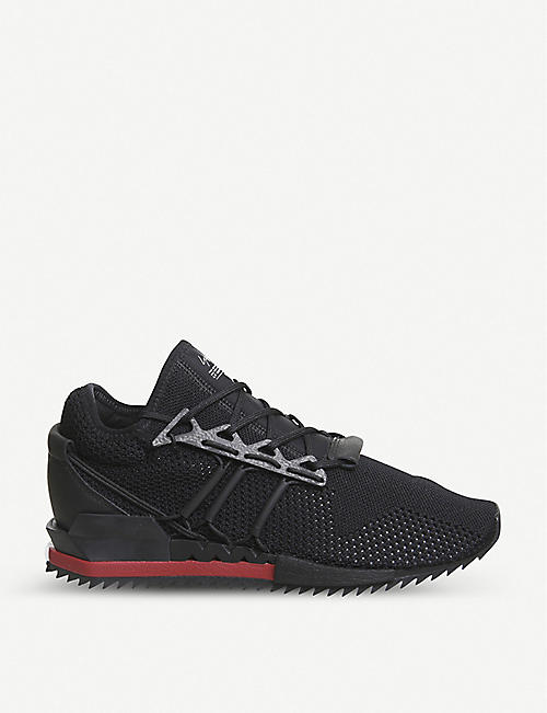 ADIDAS Y3 Y-3 Harigane Primeknit and leather trainers