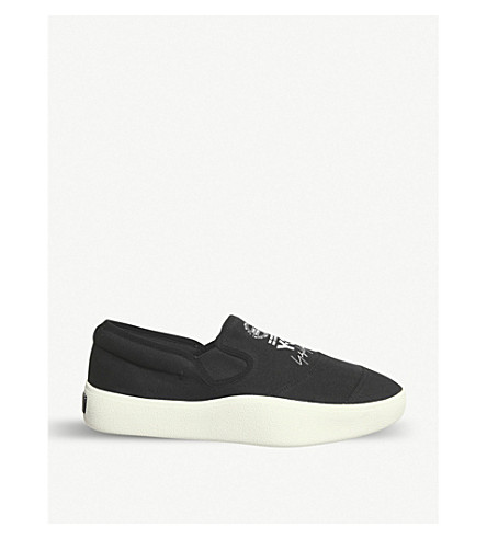 ADIDAS Y3 Y-3 Tangutsu slip-on trainers (Black+white