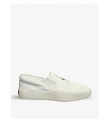 ADIDAS Y3 Y-3 Tangutsu slip-on trainers (White mono