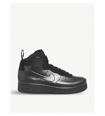 NIKE Air Force 1 Foamposite Cupsole faux-leather trainers (Black+black+black