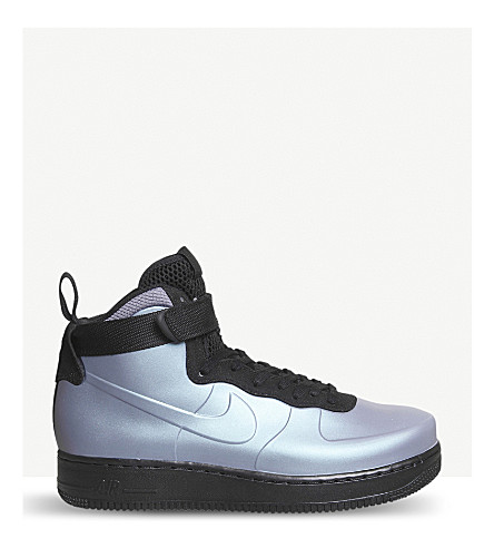 NIKE Air Force 1 high-top trainers (Light+carbon+black