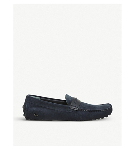 LACOSTE Herron suede loafers (Navy