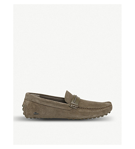 LACOSTE Herron suede loafers (Brown