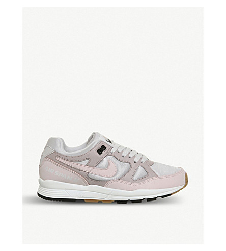 NIKE Air Span II leather and mesh trainers (Vast+grey+rose