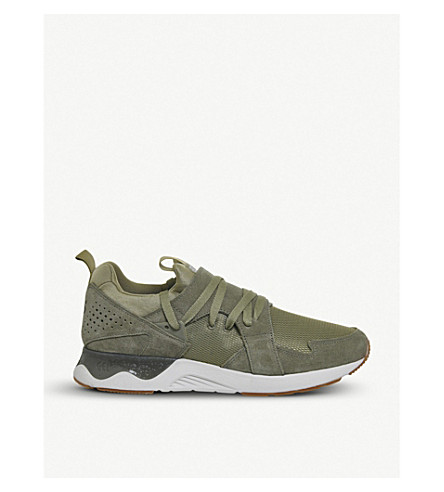 ASICS Gel-Lyte V Sanze suede and mesh trainers (Aloe+white+sole