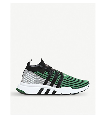 ADIDAS EQT support primeknit trainers (Black+sub+green