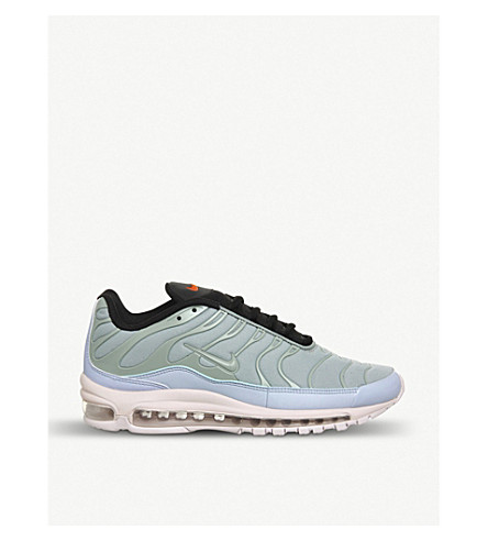 NIKE Air Max Plus 97 leather and mesh trainers (Mica+green+rose+blue