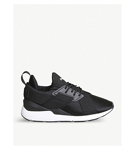 PUMA Muse X-Strap synthetic trainer (Puma+black+white