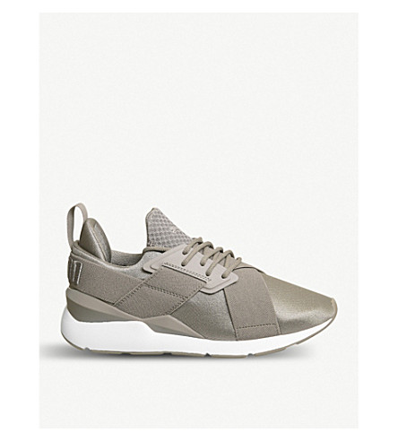 PUMA Muse X-Strap synthetic trainer Rock ridge white Recommend Cheap Online Hyper Online Sale Enjoy Fashionable For Sale zDUnhDmEQO