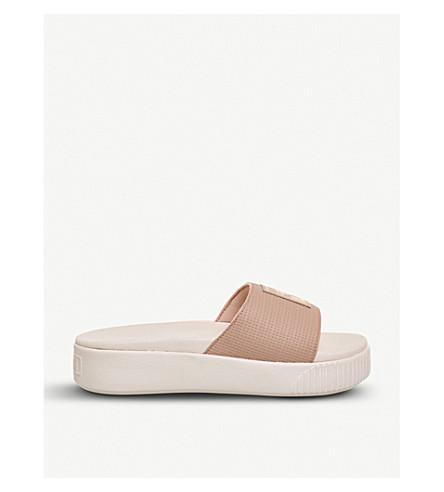 PUMA Platform sliders (Peach+beige+pearl