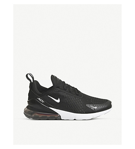 NIKE Air Max 270 low-top mesh trainers (Black+white
