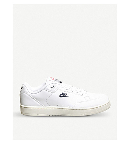 NIKE Grandstand 2 leather trainers (White+navy