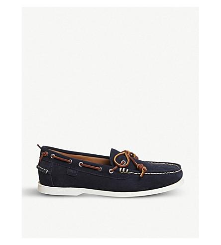 POLO RALPH LAUREN Millard suede boat shoes (Navy
