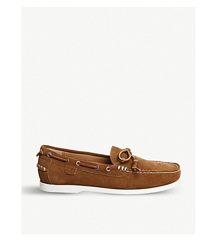POLO RALPH LAUREN Millard suede boat shoes (New+snuff