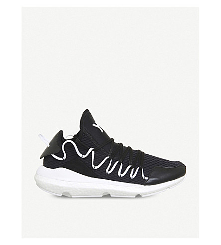 ADIDAS Y3 Y-3 Kusari stretch-mesh trainers (Black+white+boost