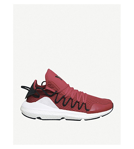 ADIDAS Y3 Y-3 Kusari stretch-mesh trainers (Chilli pepper red