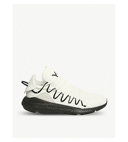 bc0e1f27dac9 ... ADIDAS Y3 Y-3 Kusari stretch-mesh trainers (White+black+boost.  PreviousNext