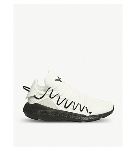 ADIDAS Y3 Y-3 Kusari stretch-mesh trainers (White+black+boost