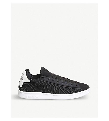 ADIDAS Y3 Y-3 Shishu Stan stripe-embroidered trainers (Black+white