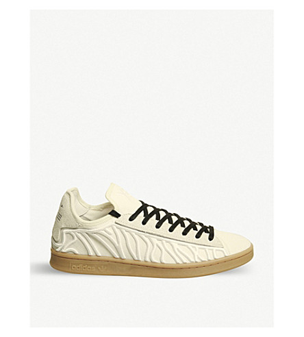 ADIDAS Y3 Y-3 Shishu Stan stripe-embroidered trainers (White+gum