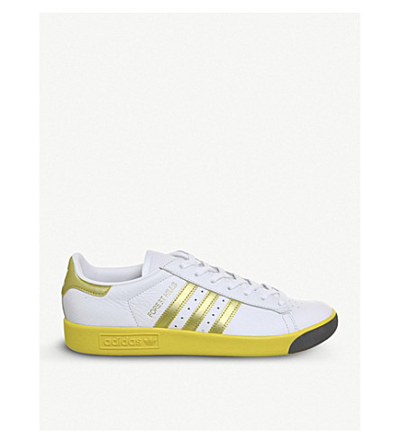 ADIDAS Originals Forest Hills metallic leather trainers (White+gold+yellow