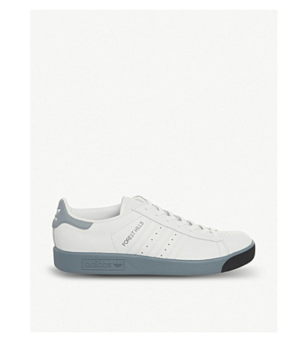 ADIDAS Originals Forest Hills leather trainers (White+raw+grey