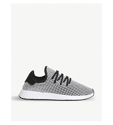 e3789b64049 ... ADIDAS Deerupt webbed-mesh and leather trainers (Core+black+white.  PreviousNext