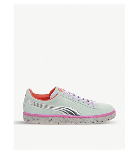 PUMA 美洲狮 x Sophia Webster 糖果公主绒面革运动鞋 (紫延 + 蓝